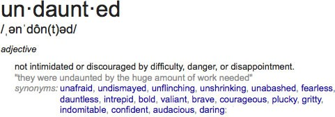 undaunted-defined