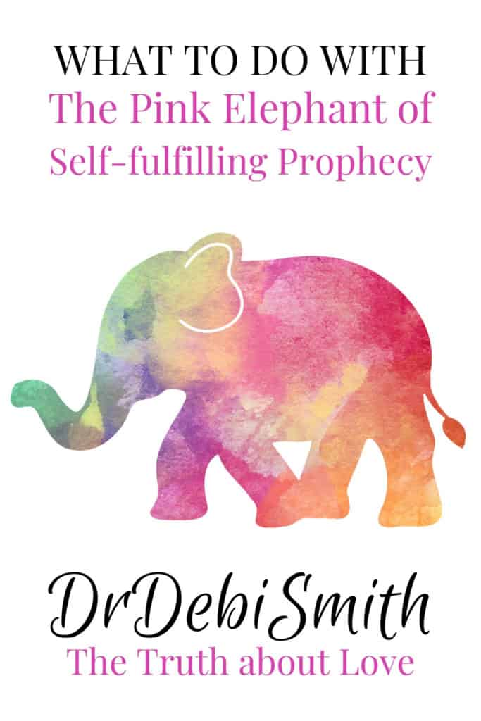 What to do with the pink elephant of self-fulfilling prophecy