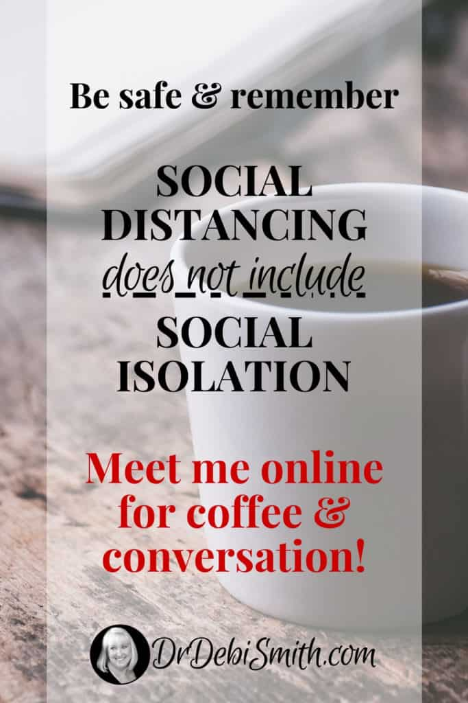 Social Distancing does not include Social Isolation
